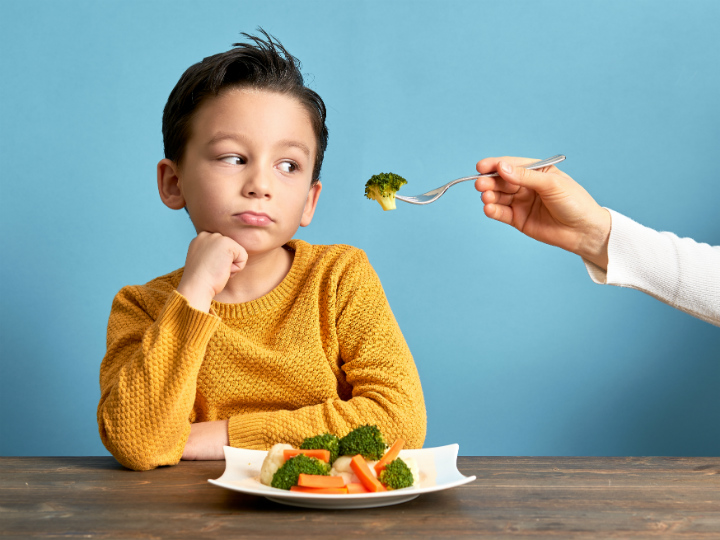 boy not wanting vegetables